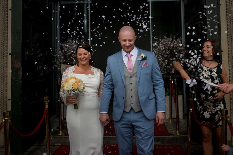 Liverpool Wedding Photographer confetti at St. George's Hall
