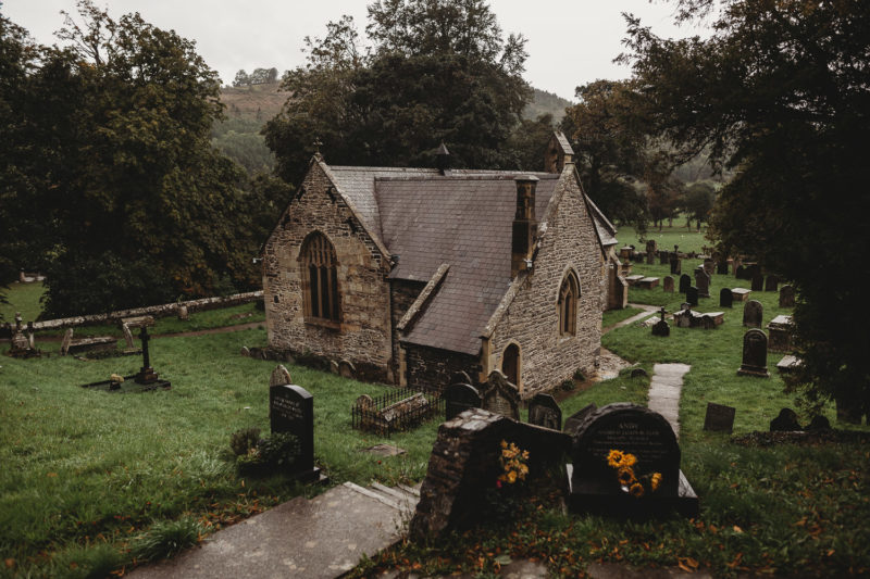 North Wales Wedding Photographer at Llantysilio Church Llangollen