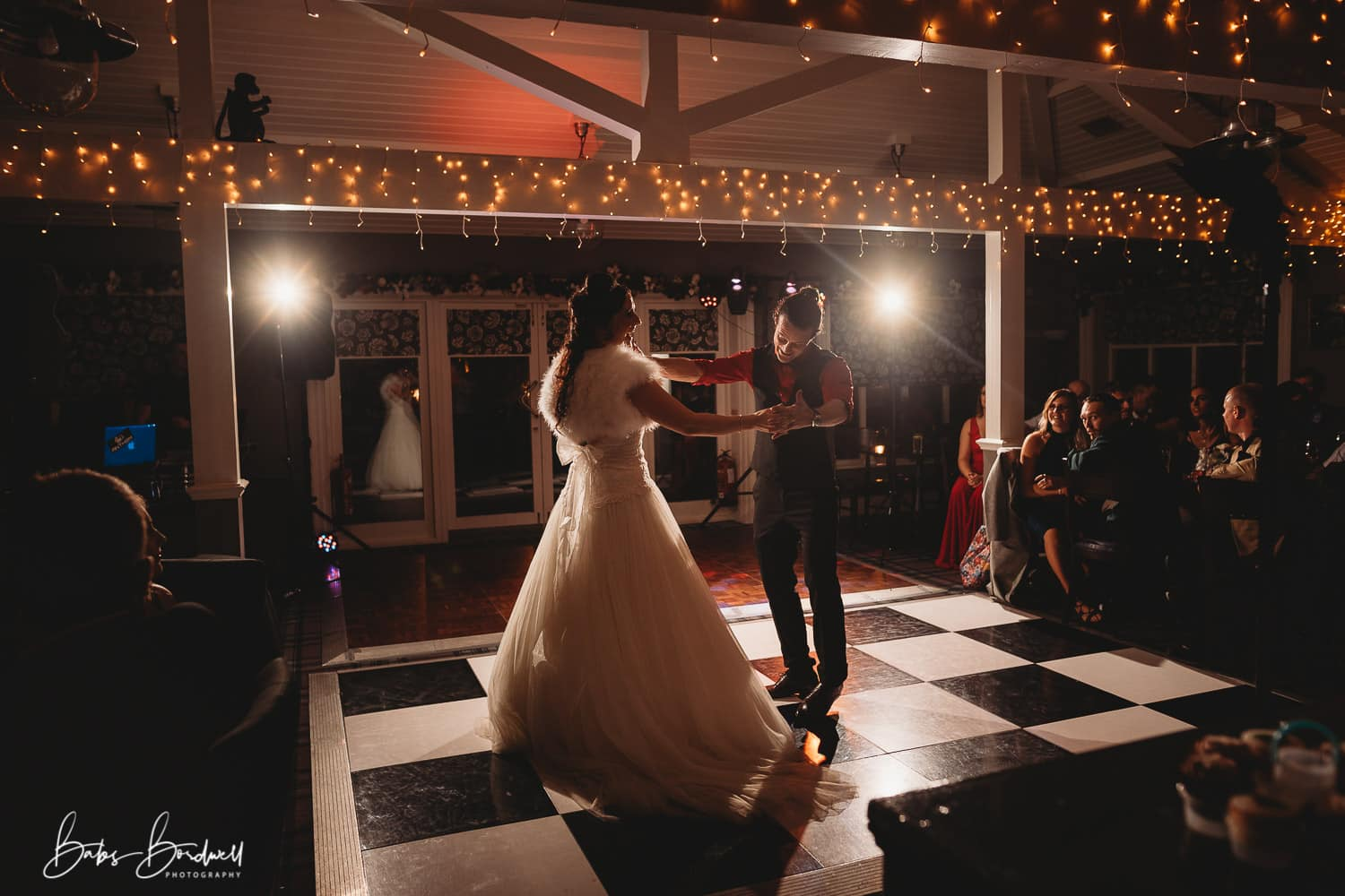 North Wales Wedding Photographer bridal couple on the dancefloor
