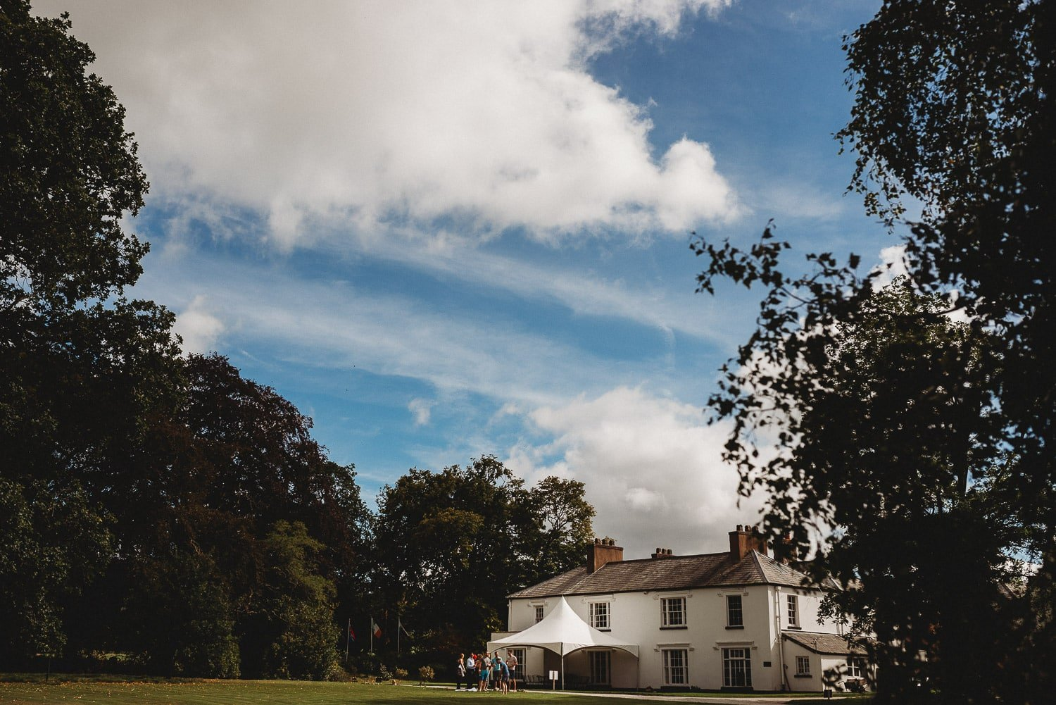 Pentre Mawr Country House with blue sky