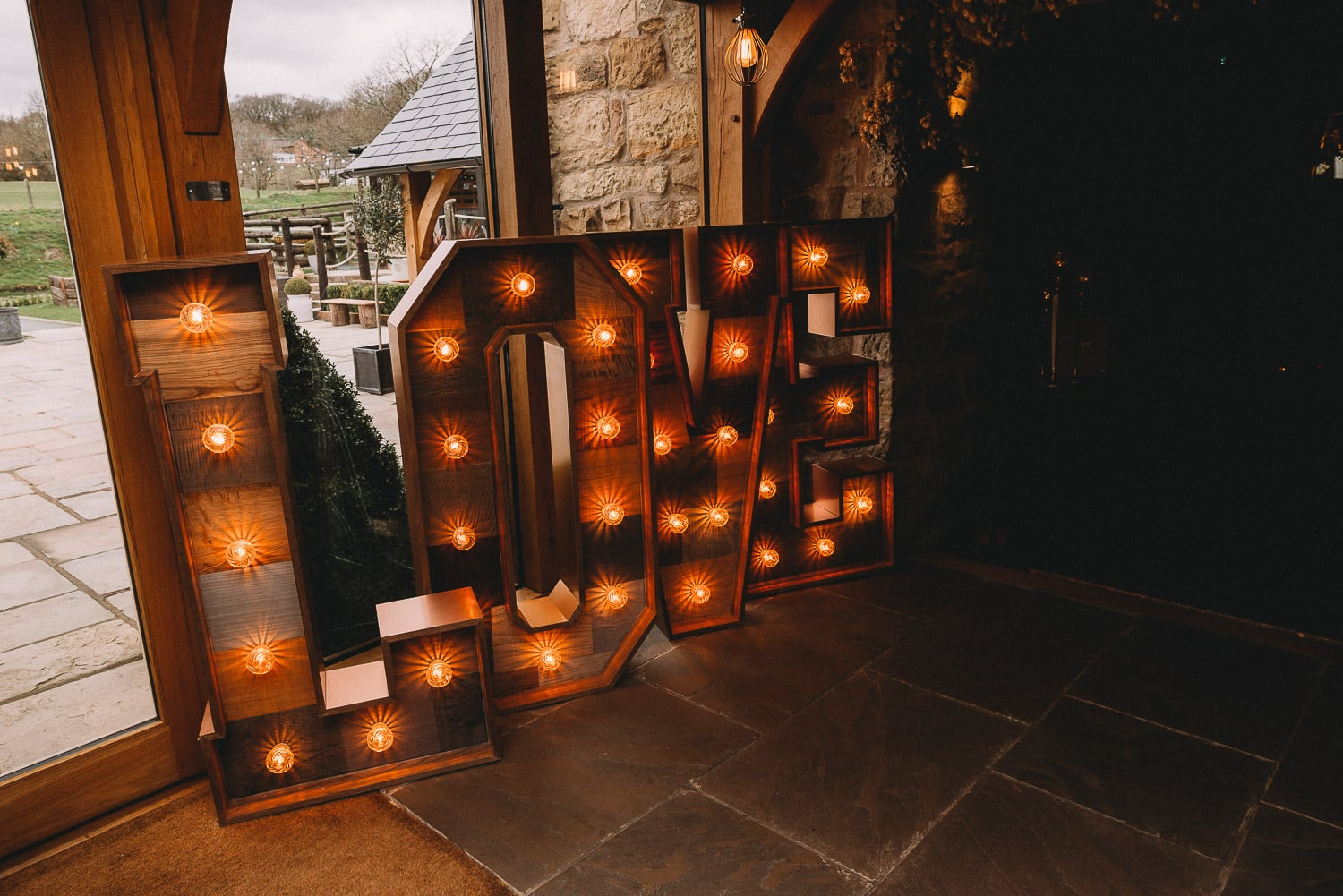 close-up of love letters at Tower Hill Barns