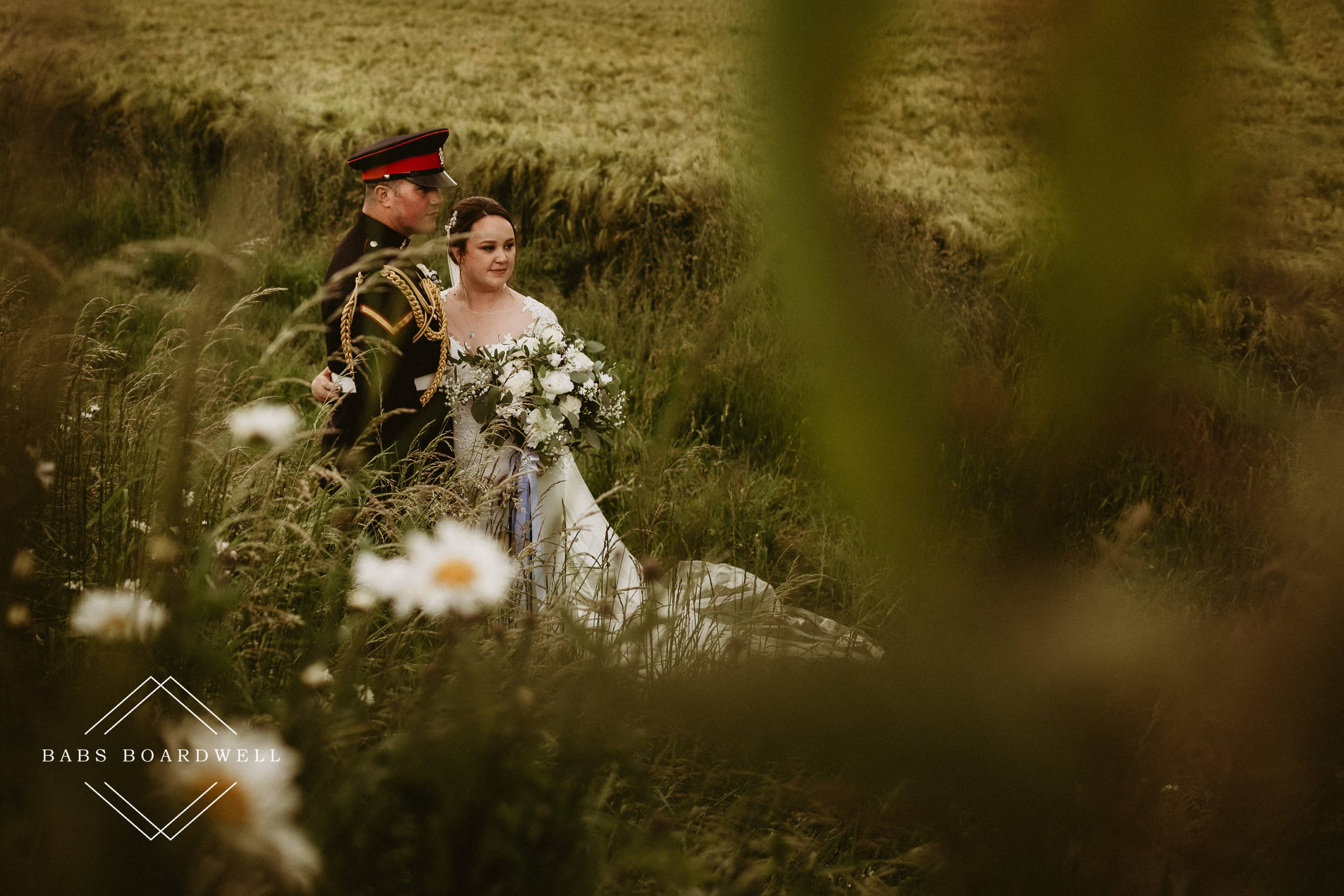 A beautiful military wedding at Wick Bottom Barn