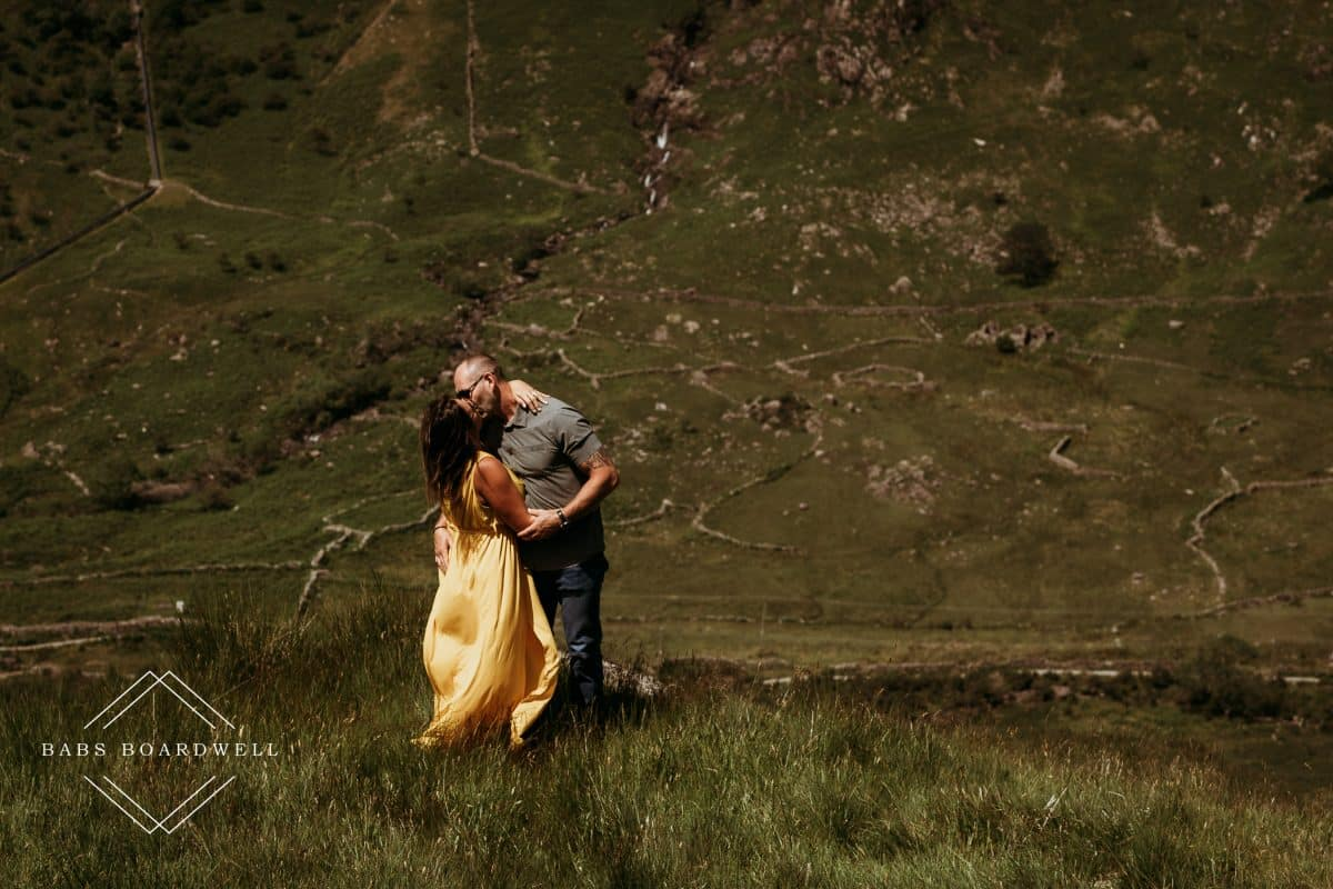 Pretty yellow dress on a pre-wedding mini adventure