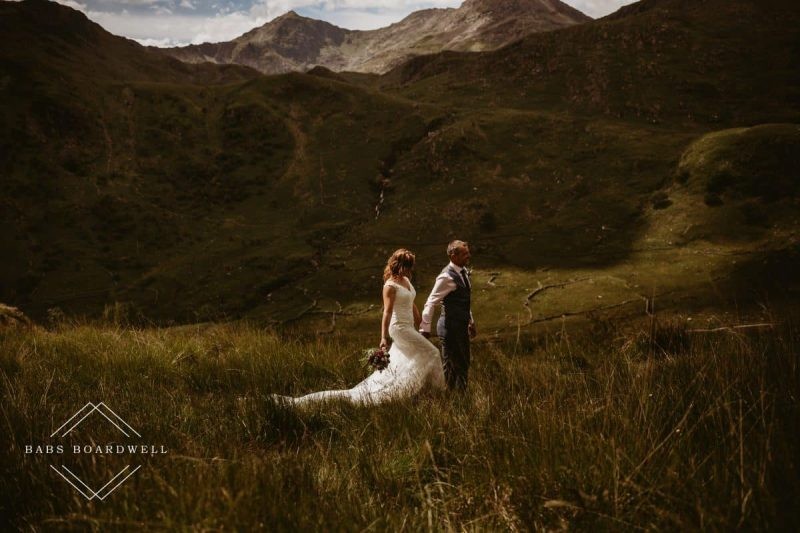 Steve & Claire's beautiful Llyn Gwynant wedding day
