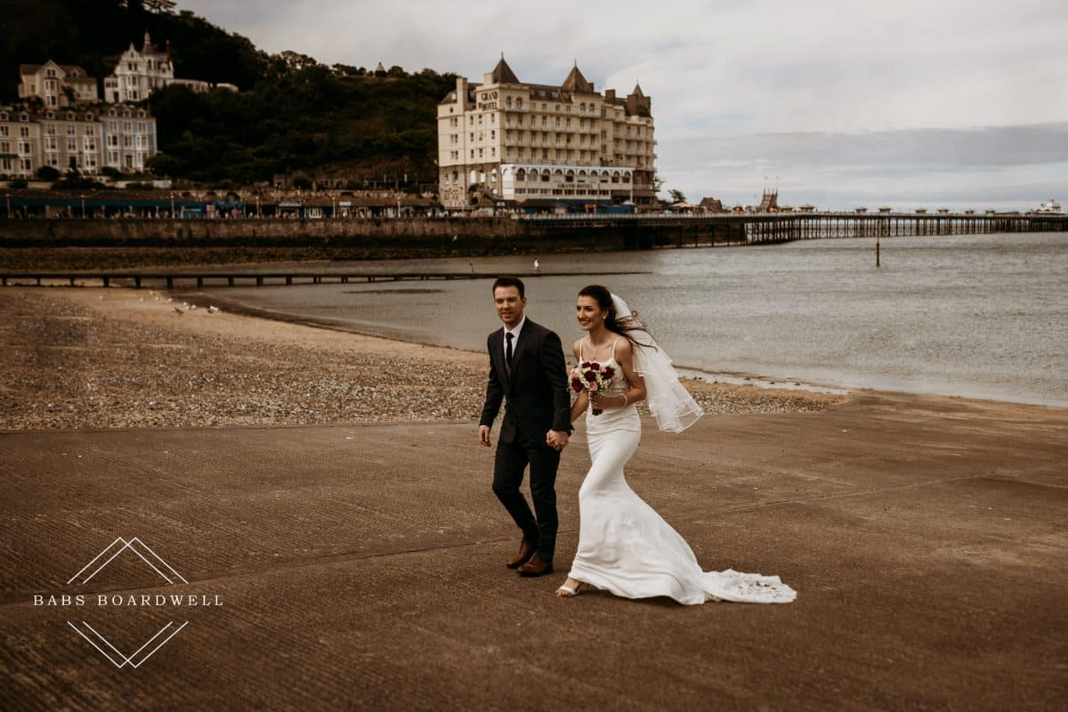 Llandudno Pier Wedding Photography