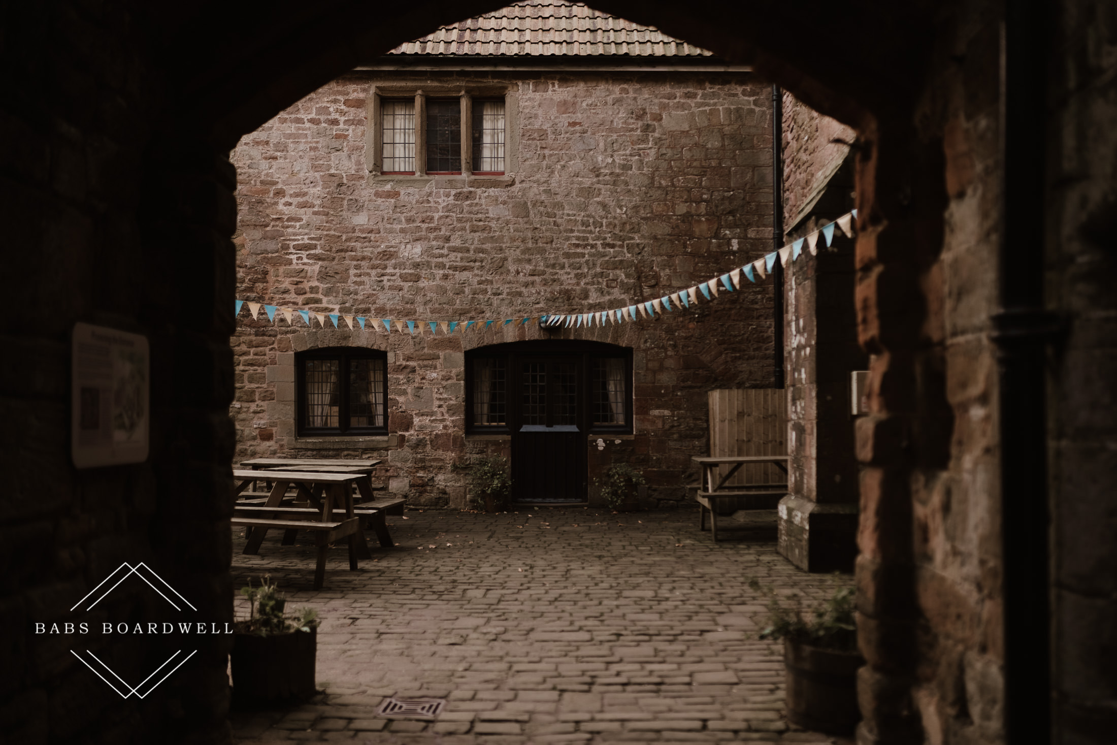 Bunting at St. Briavels Castle