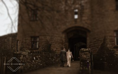 Romantic castle wedding in the Forest of Dean