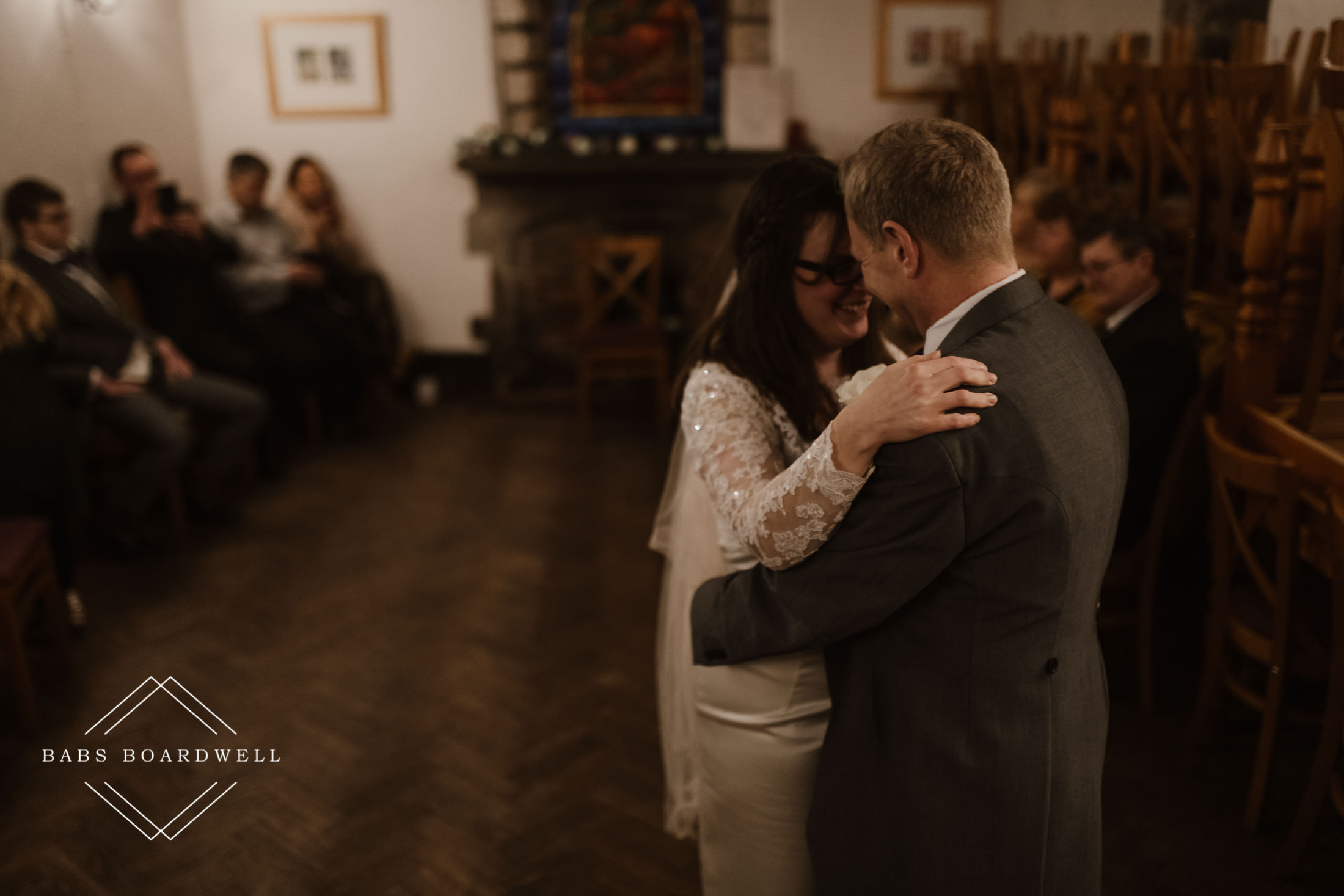 bride and groom during their first dance at St Briavels Castle