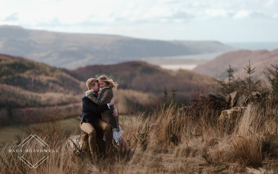 Alice & Andrew on their Snowdonia Elopement