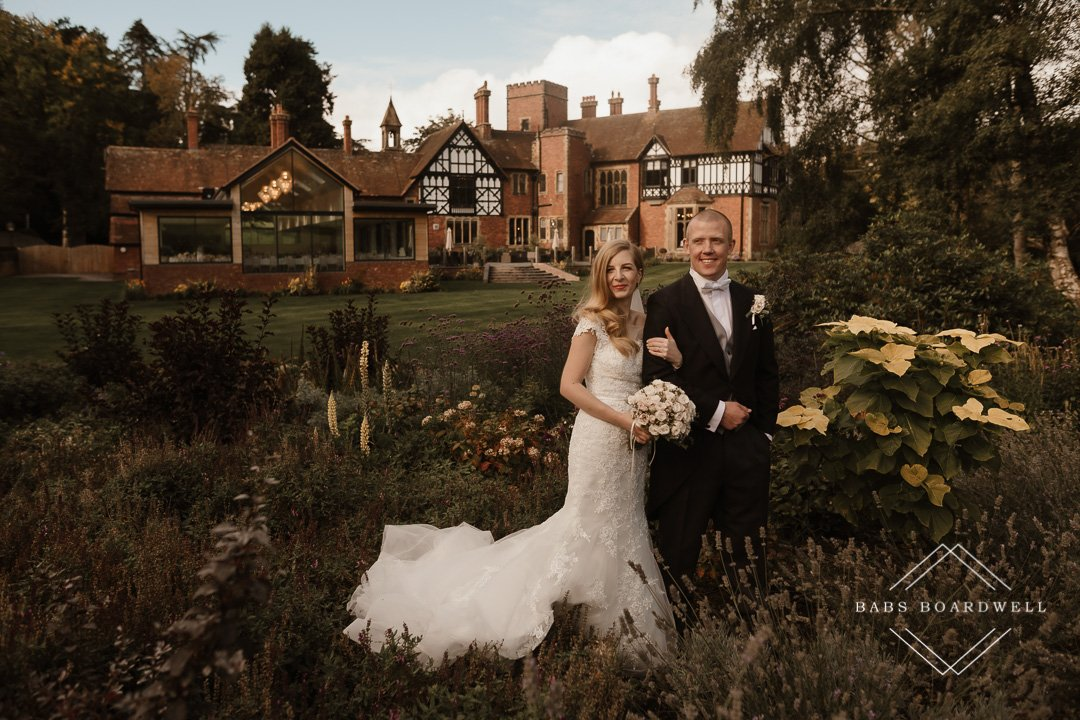 A romantic wedding at Tyn Dwr Hall in Llangollen