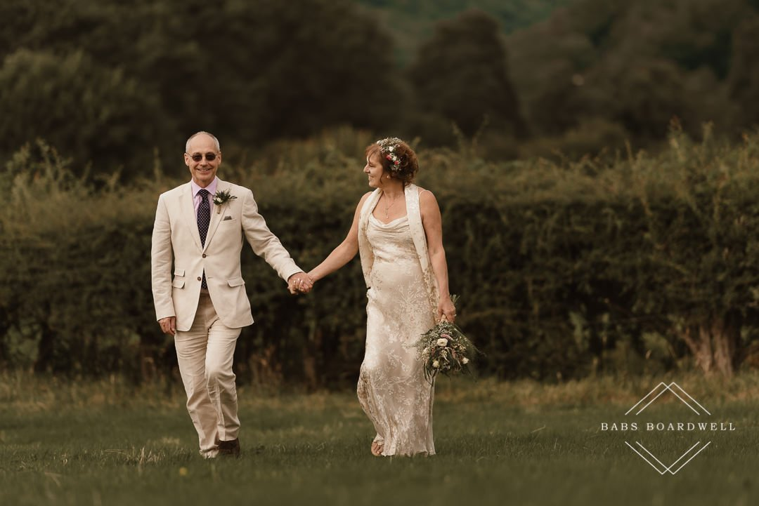 Small and intimate wedding in the Ceiriog Valley