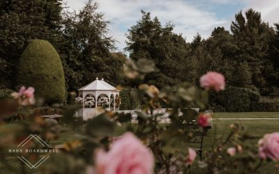 Garden wedding photography at Highfield Hall Northop