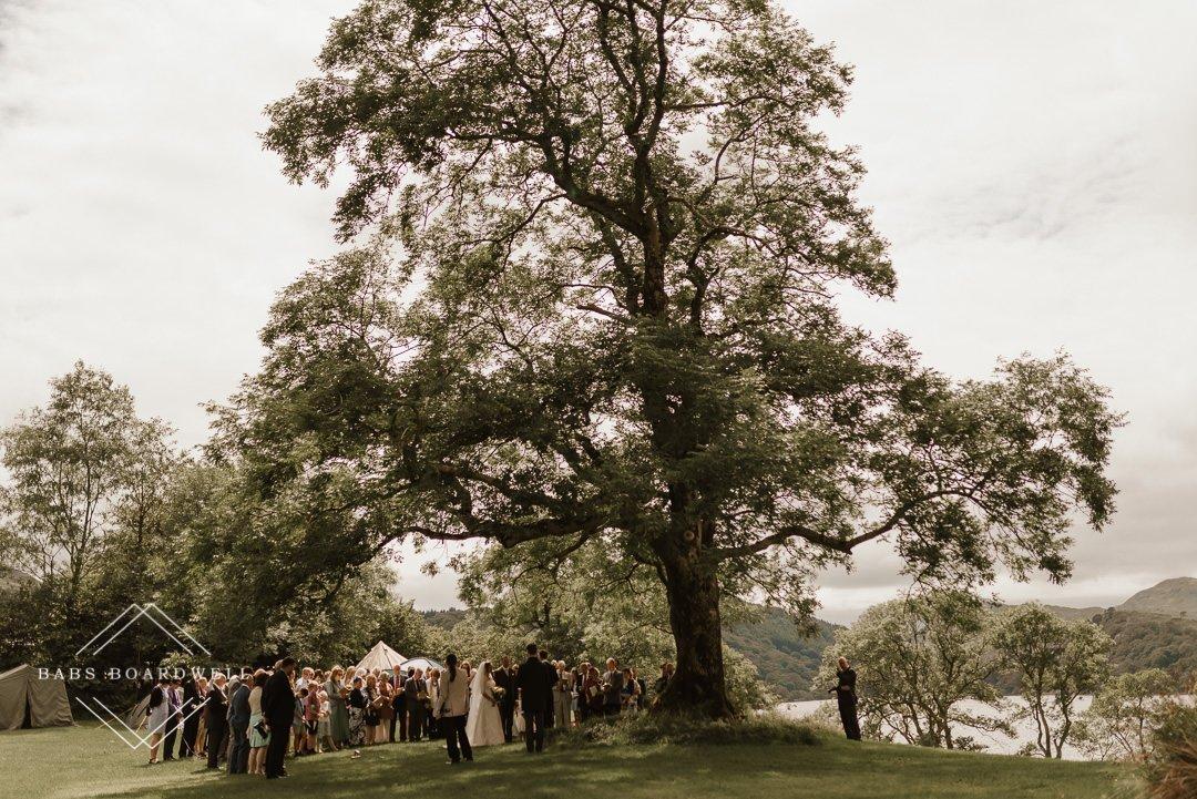 Outdoor wedding photography near Nant Gwynant