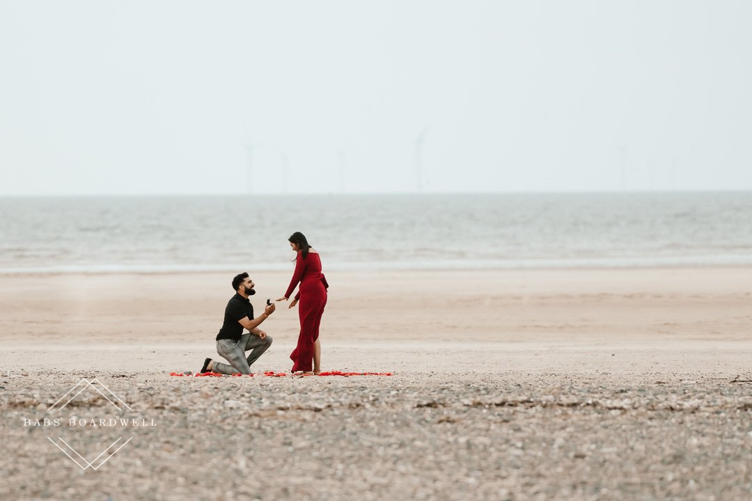 Secret beach proposal in Wales