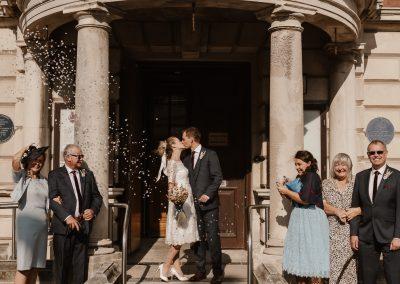Elopement style wedding at Llandudno Town Hall