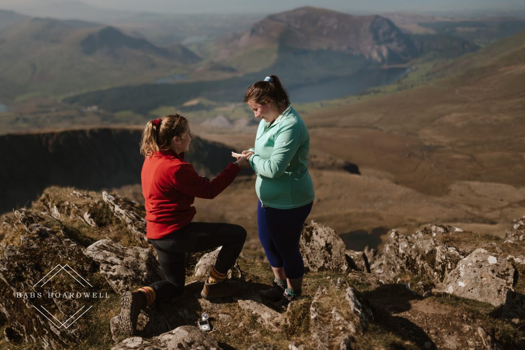 surprise proposal on top of Snowdon