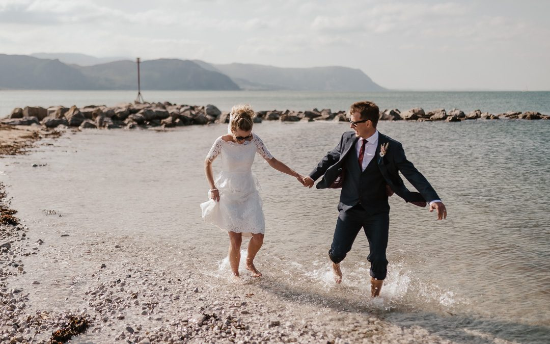 Elopement style wedding at Llandudno Town Hall