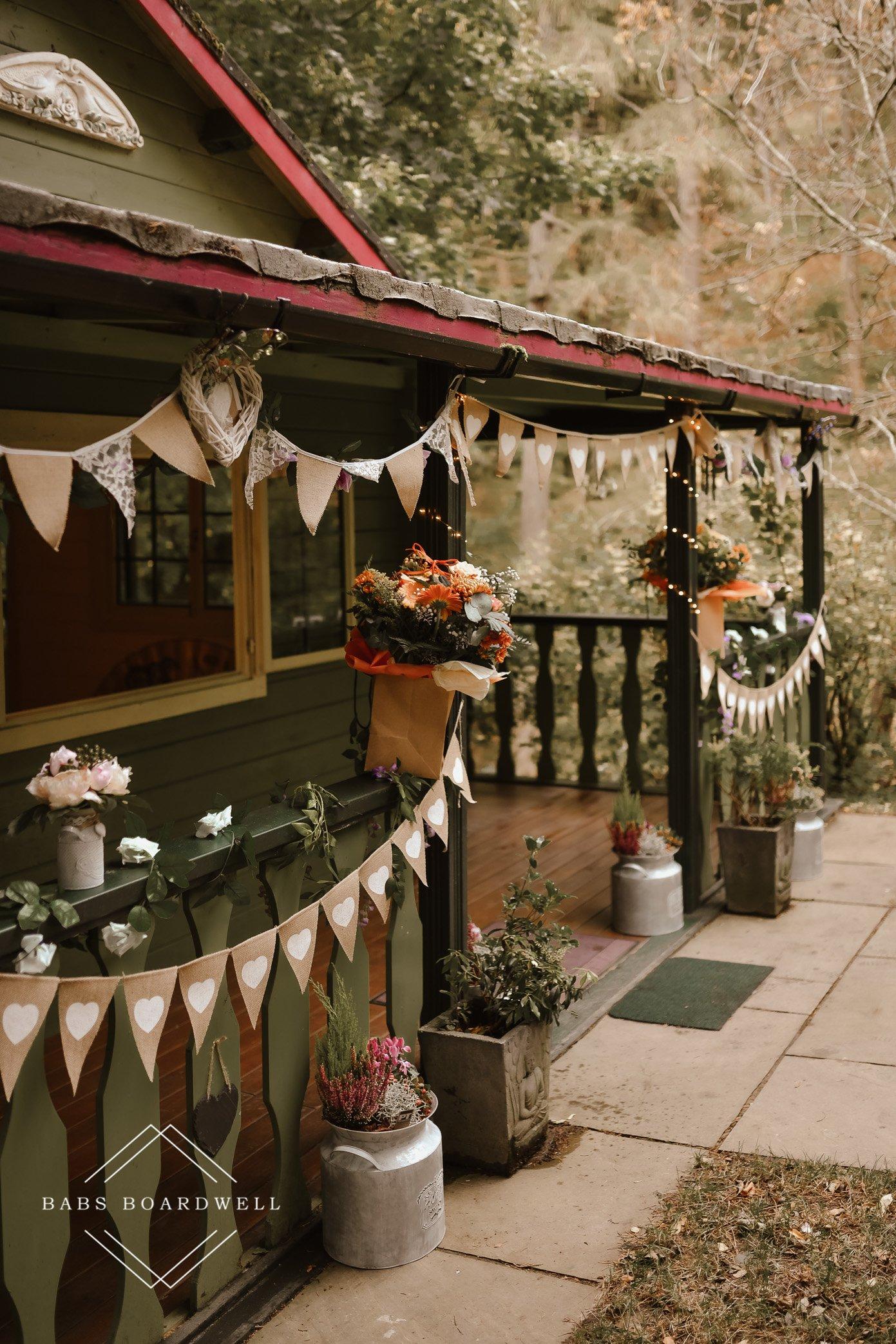 Small wedding at Pistyll Rhaeadr