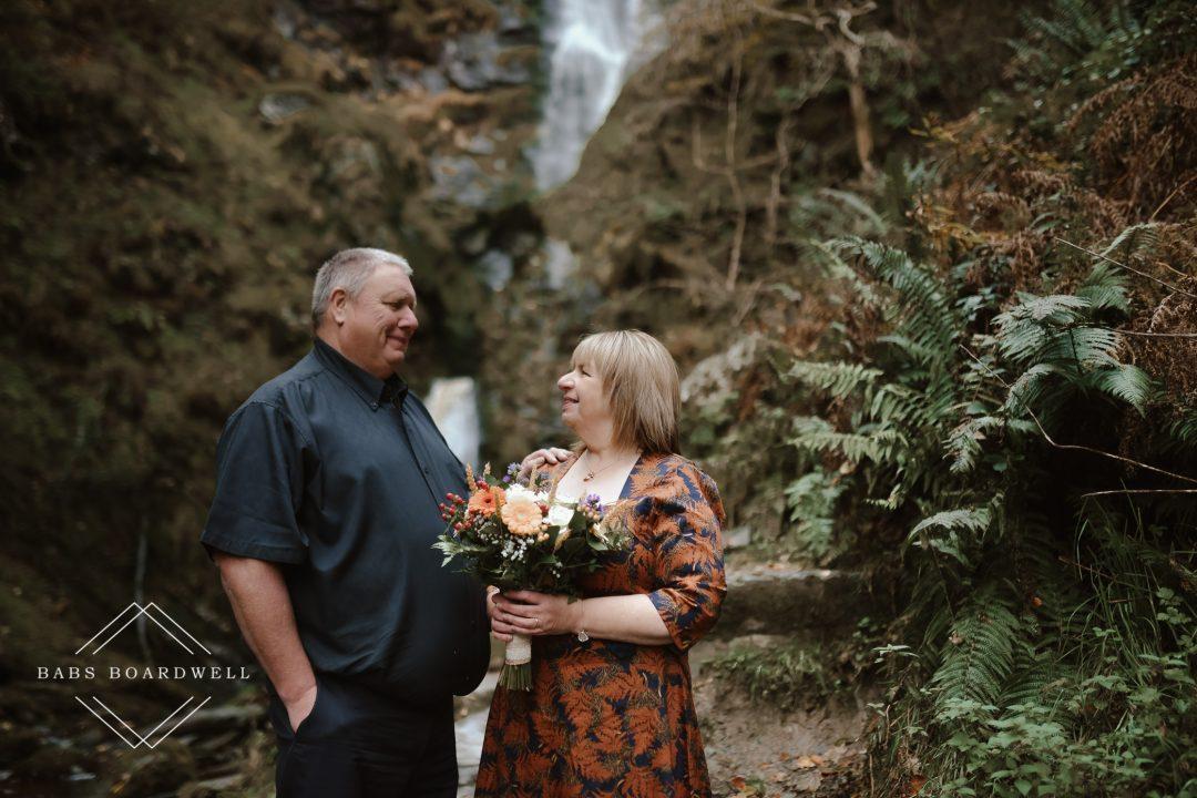 Pistyll Rhaeadr Wedding Photographer