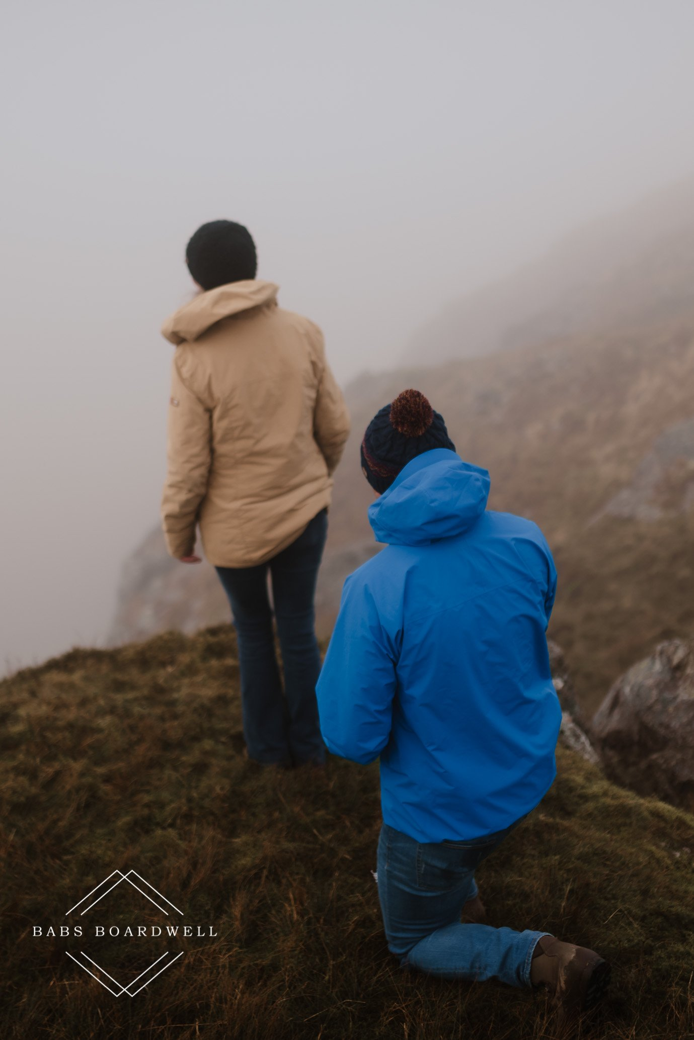 Snowdonia surprise proposal photography