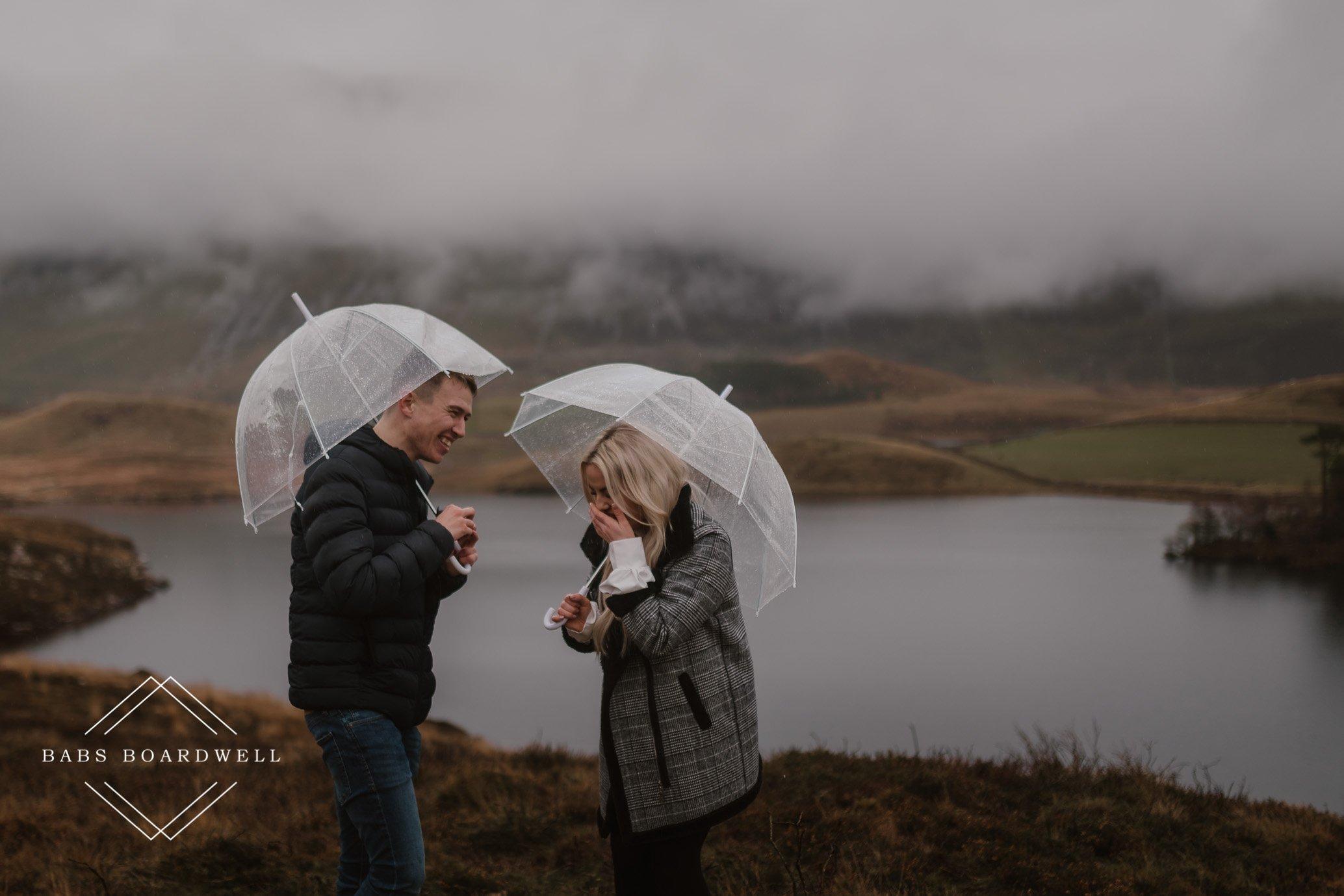 Surprise proposal in Dolgellau