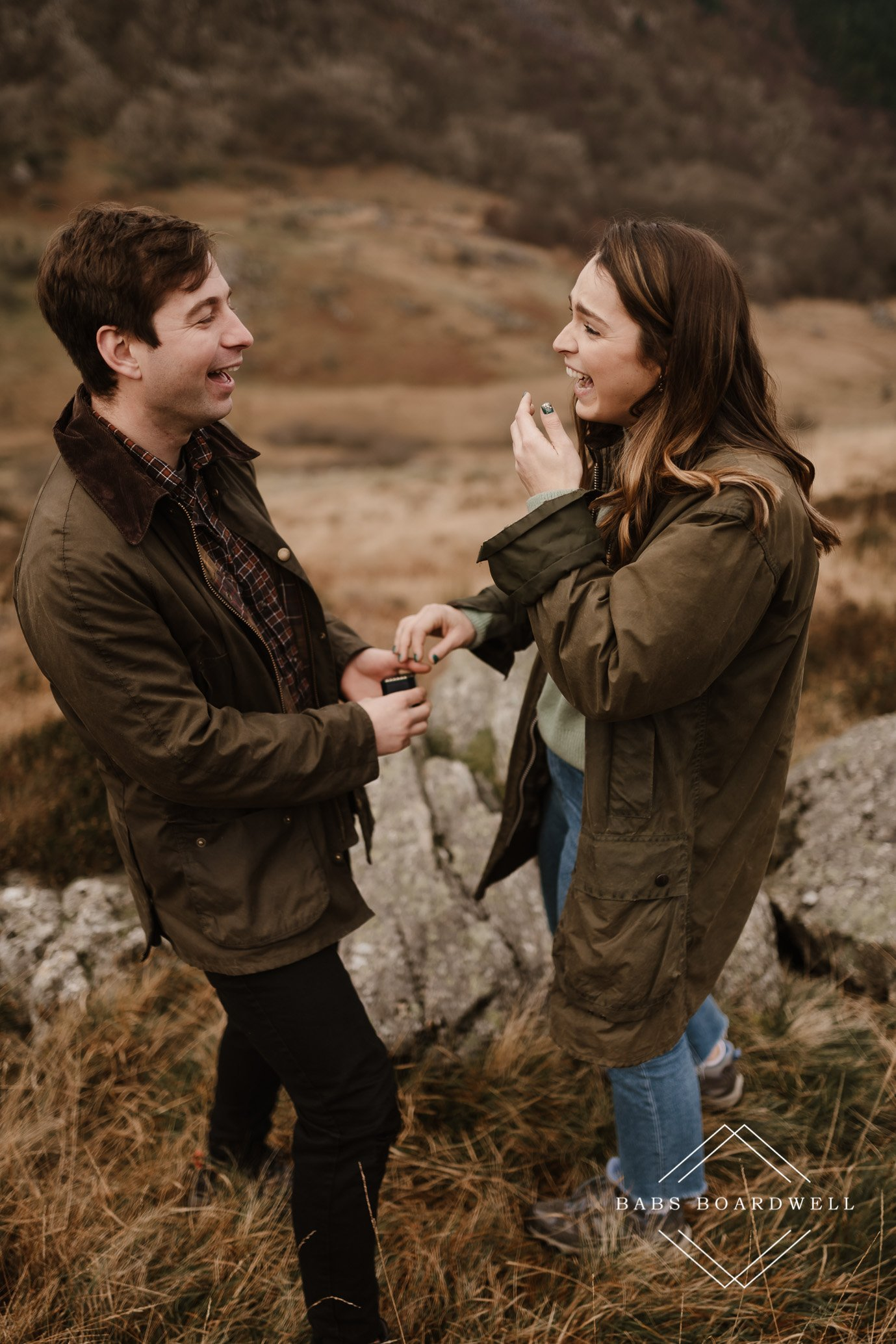surprise proposal in Snowdonia