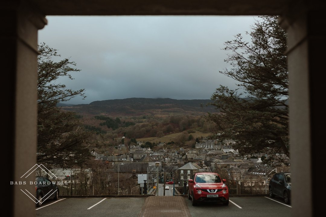 the view from Dolgellau Registry Office
