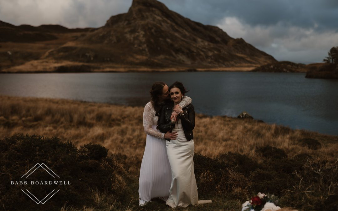 Romantic lesbian elopement wedding