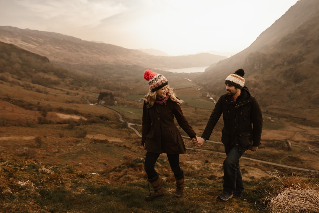 scenic pre-wedding shoot at the base of Snowdon