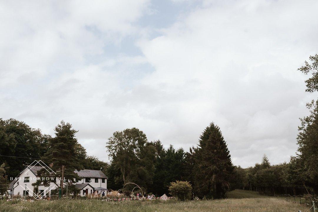 small home wedding in Cefn-y-bedd