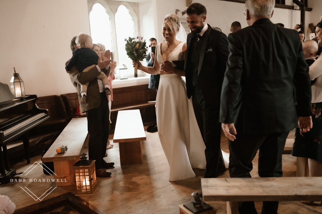 Beautiful wedding at The Gwenfrewi Project in Gwytherin
