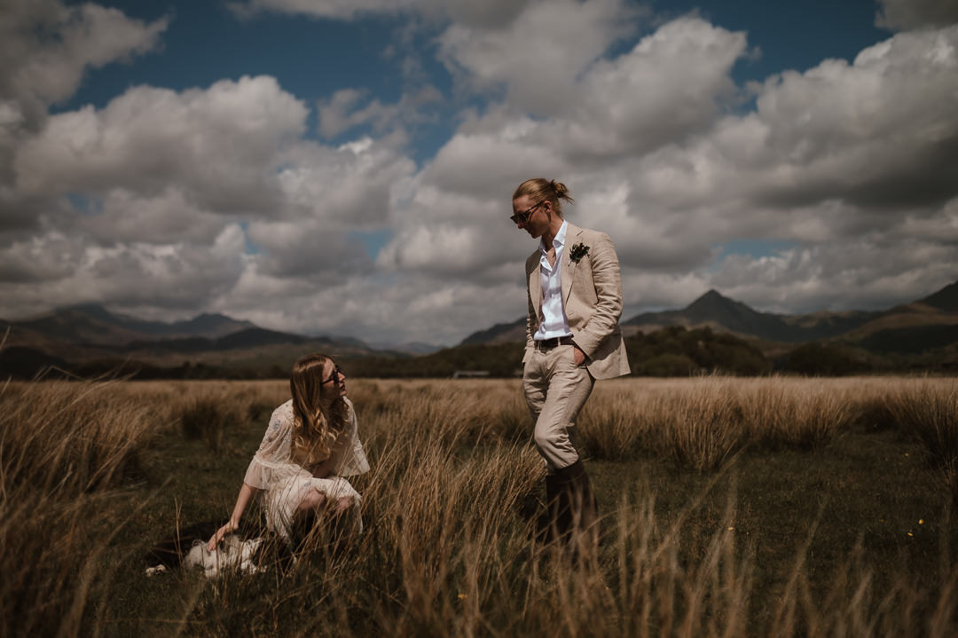 Pwllheli Elopement with dog & picnic | Wedding Photographer North Wales | UK Elopement Photographer