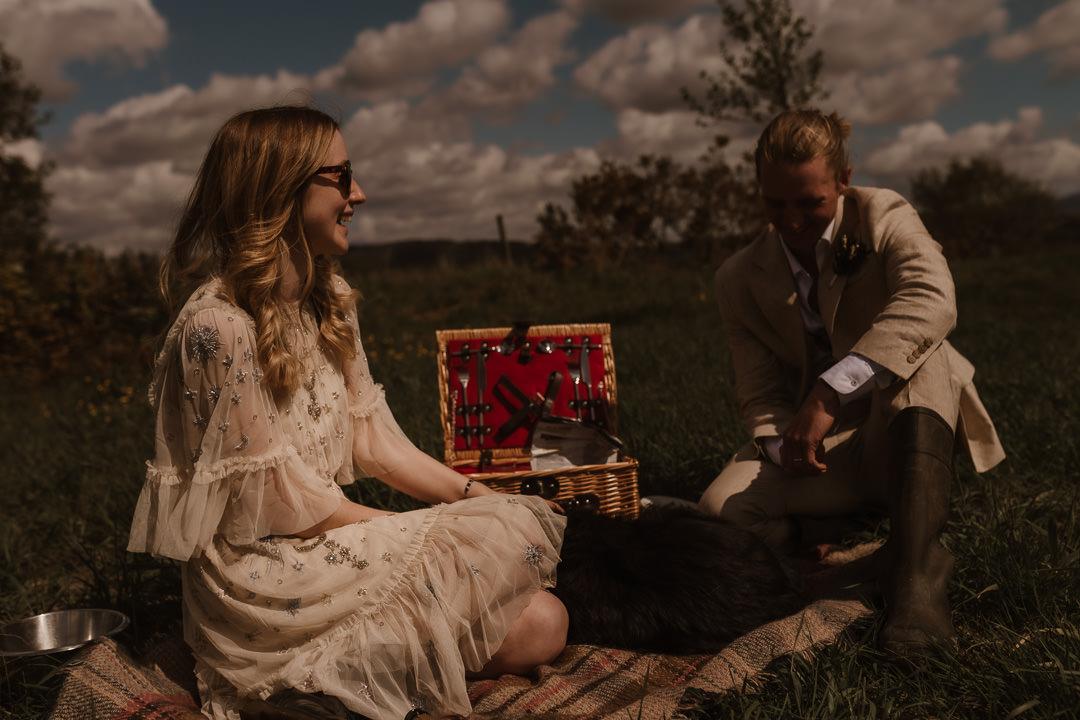 Pwllheli Elopement with dog & riverside picnic
