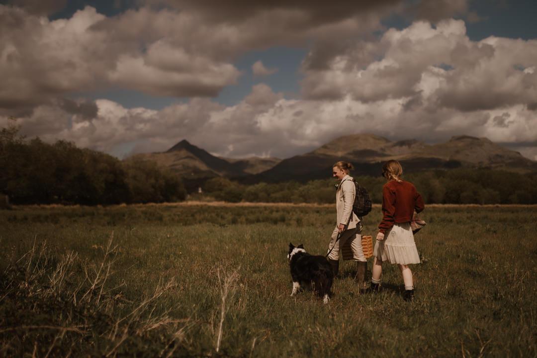 Pwllheli Elopement with dog & riverside picnic | Wedding Photographer North Wales | UK Elopement Photographer